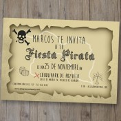 Invitación digital gratis Piratas