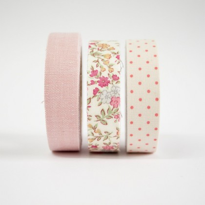 WASHI TAPE EN TONOS ROSAS -SET DE 3