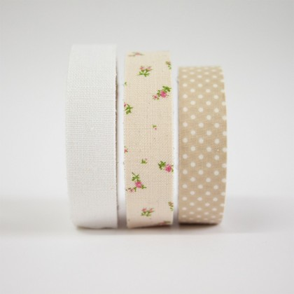 WASHI TAPE EN TONOS BEIGE-SET DE 3