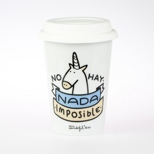 "Taza take away "" no hay nada imposible"""